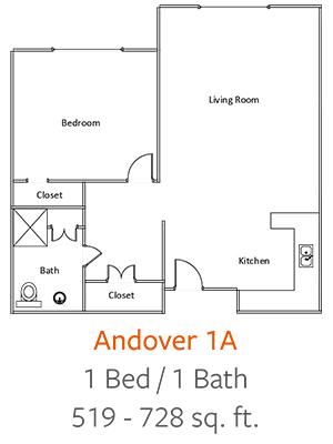 Crystal-Creek-Senior-Living-Dallas-Andover-1A-Floor-Plan-1-Bed-1-Bath