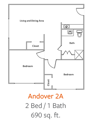 Crystal-Creek-Senior-Living-Dallas-Andover-2A-Floor-Plan-2-Bed-1-Bath