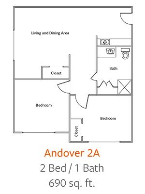 Crystal-Creek-Senior-Living-Dallas-Andover-2A-Floor-Plan-2-Bed-1-Bath