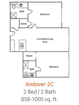 Crystal-Creek-Senior-Living-Dallas-Andover-2C-Floor-Plan-2-Bed-1-Bath