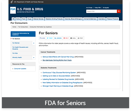 FDA for seniors