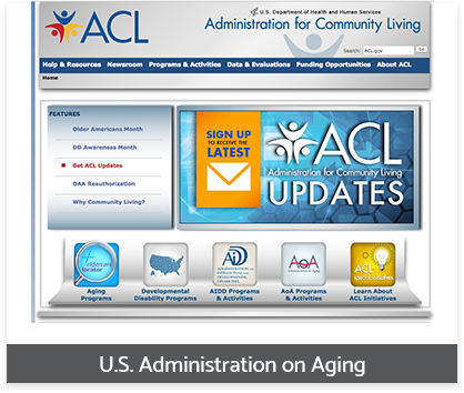 US Administration Aging healthcare provider resources