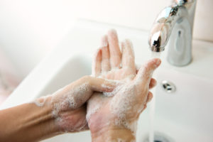 Wash hands in Assisted Living