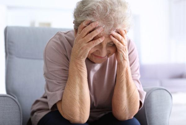 Woman in denial of her dementia diagnosis